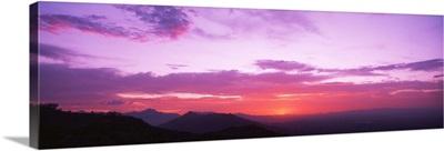 Sunset Sierra Estrella Mountains Phoenix AZ