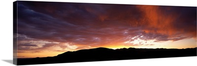 Sunset Sierra Nevada Mountains CA