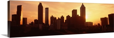 Sunset skyline Atlanta GA
