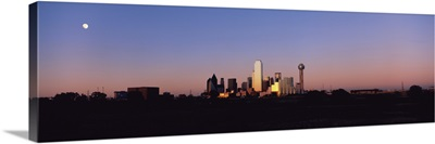 Sunset Skyline Dallas TX USA