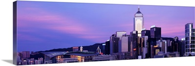 Sunset Skyline Hong Kong China