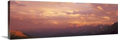 Sunset Storm ovr Longs Peak Rocky Mt National Park CO