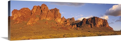 Sunset Superstition Mountains Tonto National Forest Lost Dutchman State Park AZ