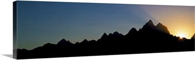 Sunset Teton Range Grand Teton National Park WY