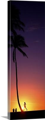 Sunset With Runner HI