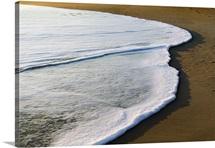Surf on sandy beach, Outer Banks, North Carolina