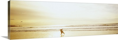 Surfer Ocean Beach Carmel CA