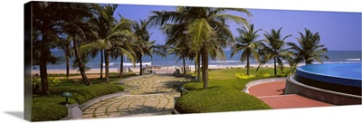 Swimming pool in a resort, GRT Temple Bay Beach Resort, Mahabalipuram, Tamil Nadu, India