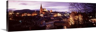 Switerland, Baden, night