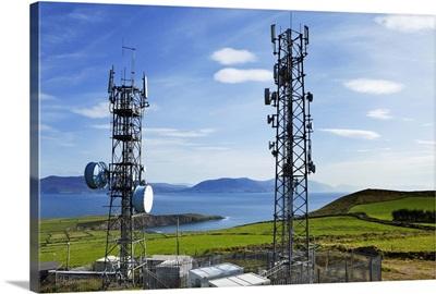 Telecommunication Towers near Bulls Head, Dingle Peninsula, County Kerry, Ireland
