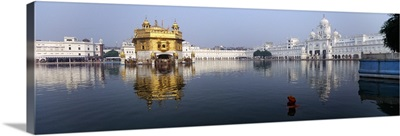 Temple at the waterfront, Golden Temple, Amritsar, Punjab, India