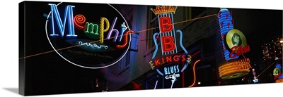 Tennessee, Memphis, neon signs