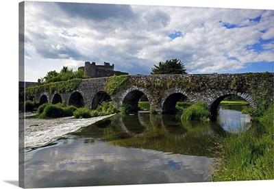 The 13 Arch Bridge over the River Funshion, Glanworth, County Cork, Ireland