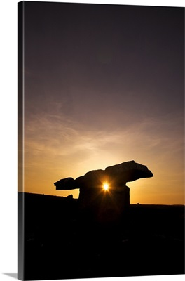 The 6,000 year old Poulnabrone Dolmen, The Burren, County Clare, Ireland