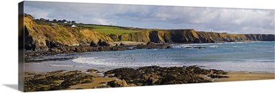 The Copper Coast, From Boatstrand Harbour, Co Waterford, Ireland