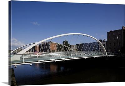 The James Joyce Bridge, Over The River Liffey, Dublin, Ireland