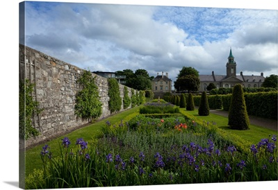 The renovated gardens in the grounds of the Royal Hospital, Dublin City, Ireland