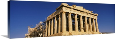 The ruins of a temple, Parthenon, Athens, Greece