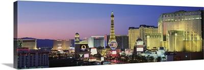 The Strip dusk Las Vegas NV