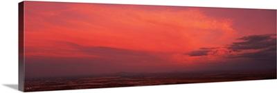 Thunderstorm at sunset S Mtn Park Phoenix AZ