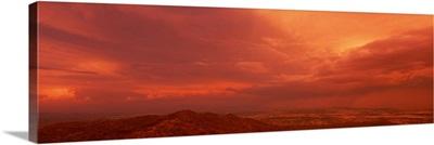 Thunderstorm at Sunset South Mountain Park  Phoenix  AZ