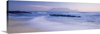 Tide on the beach, Table Mountain, South Africa