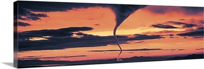 Tornado in the sky