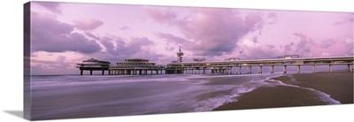 Tourist resort at the seaside, Scheveningen, The Hague, South Holland, Netherlands