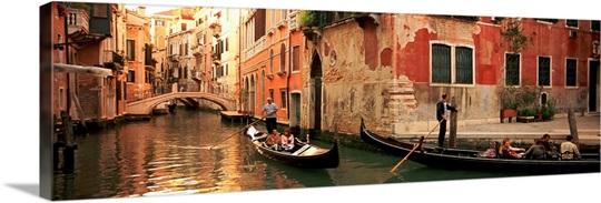 Italy Wall Art tourists in a gondola, venice, italy wall art, canvas prints