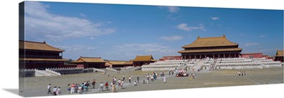 Tourists in front of a building, Hall of Supreme Harmony, Beijing, China