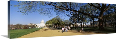 Tourists walking in a public park, The Mall, Capitol Building, Washington DC
