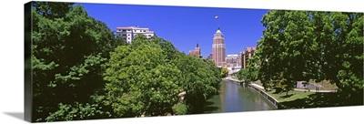 Tower Life Building, San Antonio River Walk, San Antonio River, San Antonio, Texas