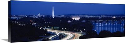 Traffic on the road, Washington Monument, Washington DC