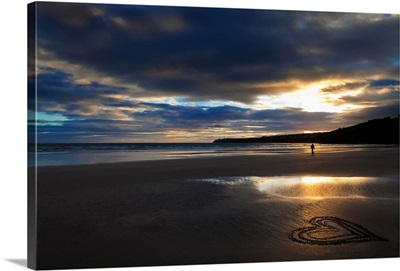 Tramore Beach at Sunset, County Waterford, Ireland