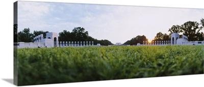 Trees near a war memorial, National World War II Memorial, Washington DC