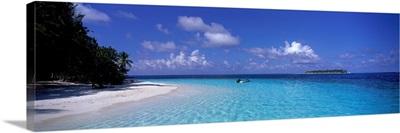 Tropical Beach Ihru Maldives