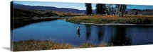 Trout fisherman Slough Creek Yellowstone National Park WY
