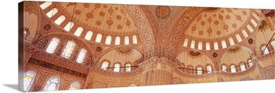 Turkey, Istanbul, Blue Mosque, interior