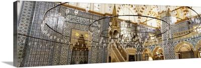 Turkey, Istanbul, Rustem Pasa Mosque, interior
