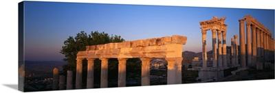 Turkey, Pergamum, temple ruins