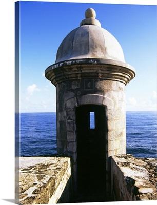 Turret of a castle, Morro Castle, Old San Juan, San Juan, Puerto Rico