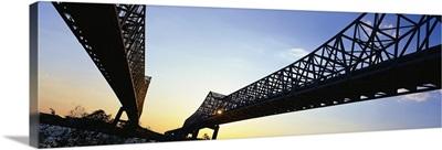 Twin Bridges Mississippi River New Orleans LA