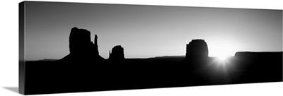 Utah, Monument Valley, Sunrise at a landscape