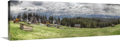 View of a small village, Tatra Mountains, Kuznice, Poland