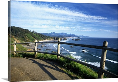 View of coastline from trail, Ecola State Park, Oregon, united states,