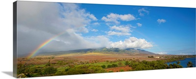 View of rainbow over landscape, Kaanapali, Maui, Hawaii