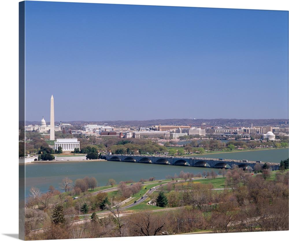 Lincoln Memorial viewed from across Potomac River Memorial Bridge Photo Print