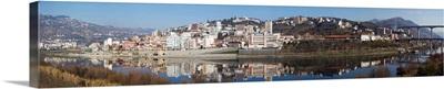 Village at the waterfront, Regua, Alto Douro, Douro Valley, Portugal