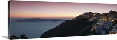 Village on a cliff, Firostefani, Santorini, Cyclades Islands, Greece