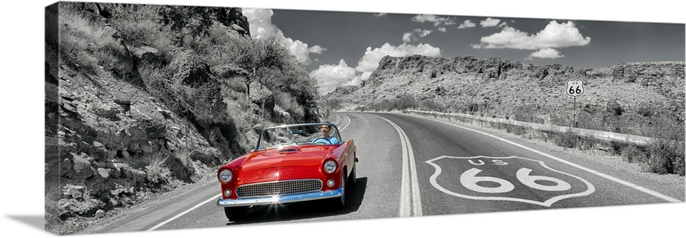 Arizona Time Life Route 66 Ready Framed Canvas